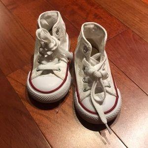 White Kids Converse